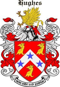HUGHES family crest